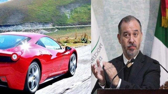 Raúl Crervantes, procurador, tiene un Ferrari en Morelos