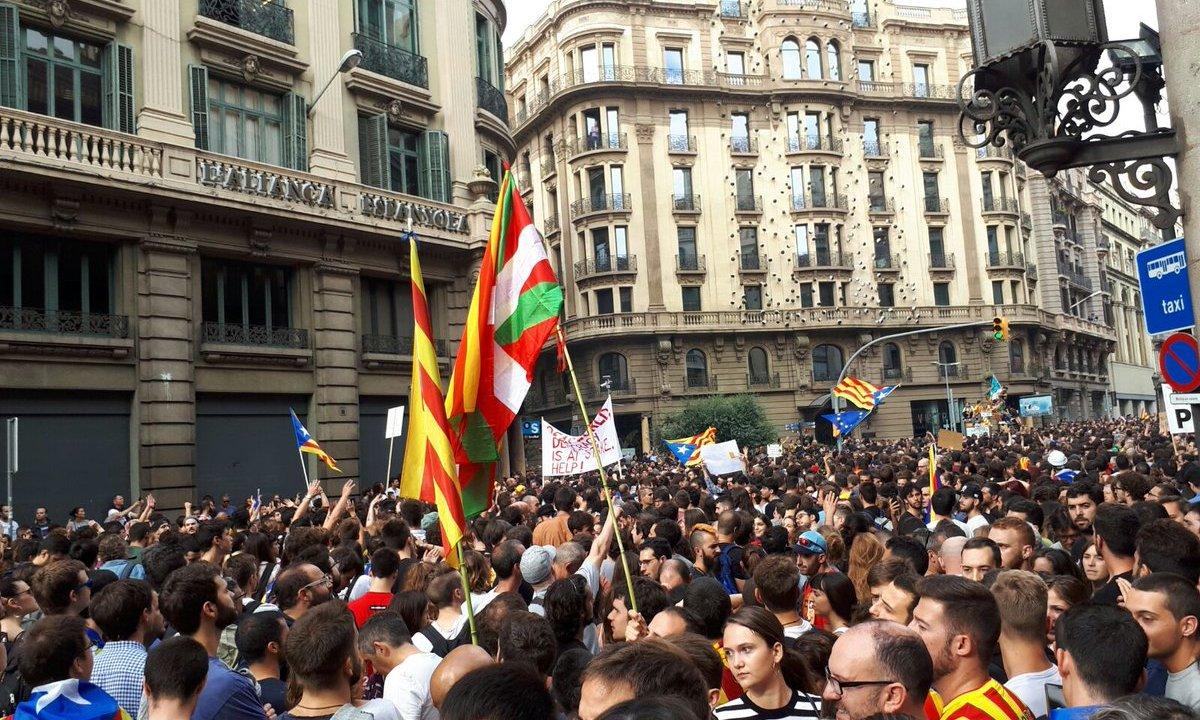 Huelga general en Cataluña, contra Rajoy y Madrid