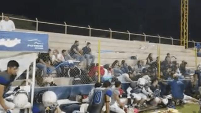 Disparos cerca de partido de americano causa pánico en Sonora