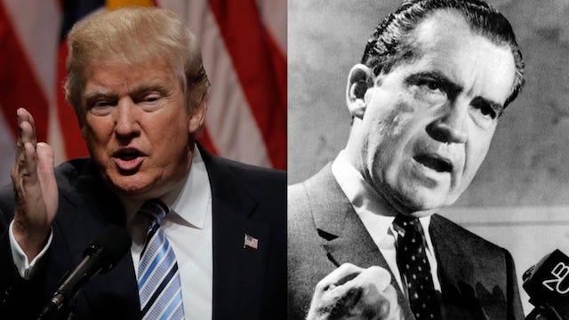Trump es comparado con Nixon por el Rusiagate y el Watergate