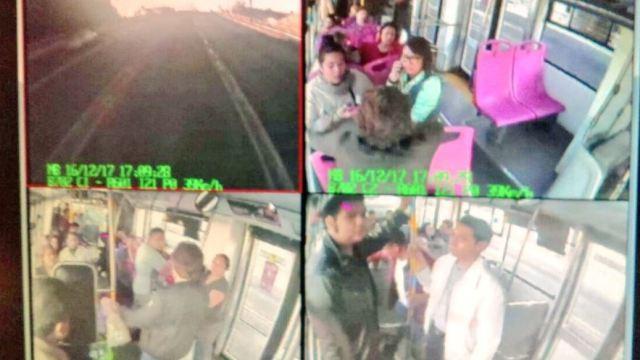 asalto metrobús línea 6 estación norte 45 sabado
