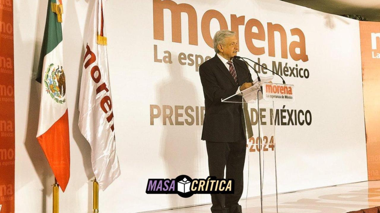 AMLO se registra como candidato presidencial de Morena