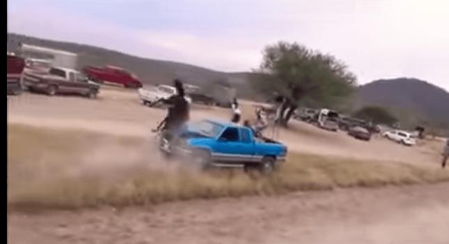 Jinete y caballo impactan de frente contra camioneta en Veracruz