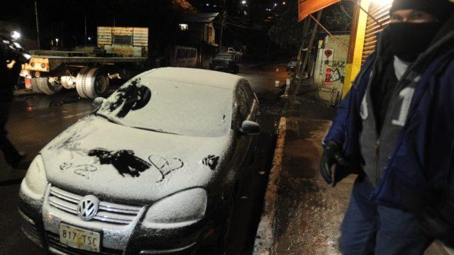 nieve aguaniveve en cuajimalpa y 5 delegaciones