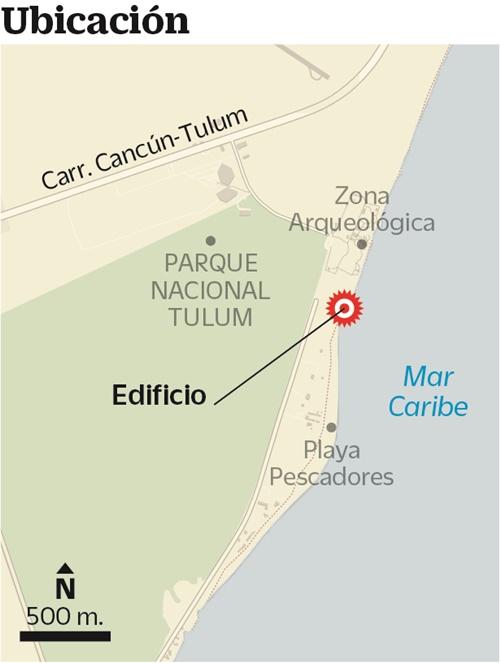 Edificios de Tulum dentro de área protegida son marcados con una Z