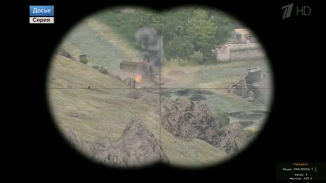 Televisión rusa transmite imágenes de la guerra siria... con un videojuego