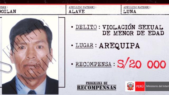 Mininter de Perú publica lista de buscados por violación