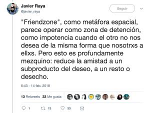 Friendzone según Javier Raya