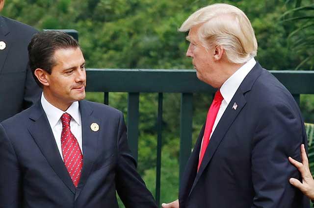 Peña cancela visita a EU Trump muro