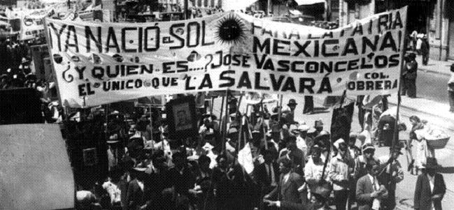 Marchas por candidatura de Vasconcelos, antecedente de lucha por autonomía