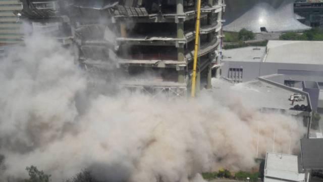 Se derrumba estructura dañada en Polanco