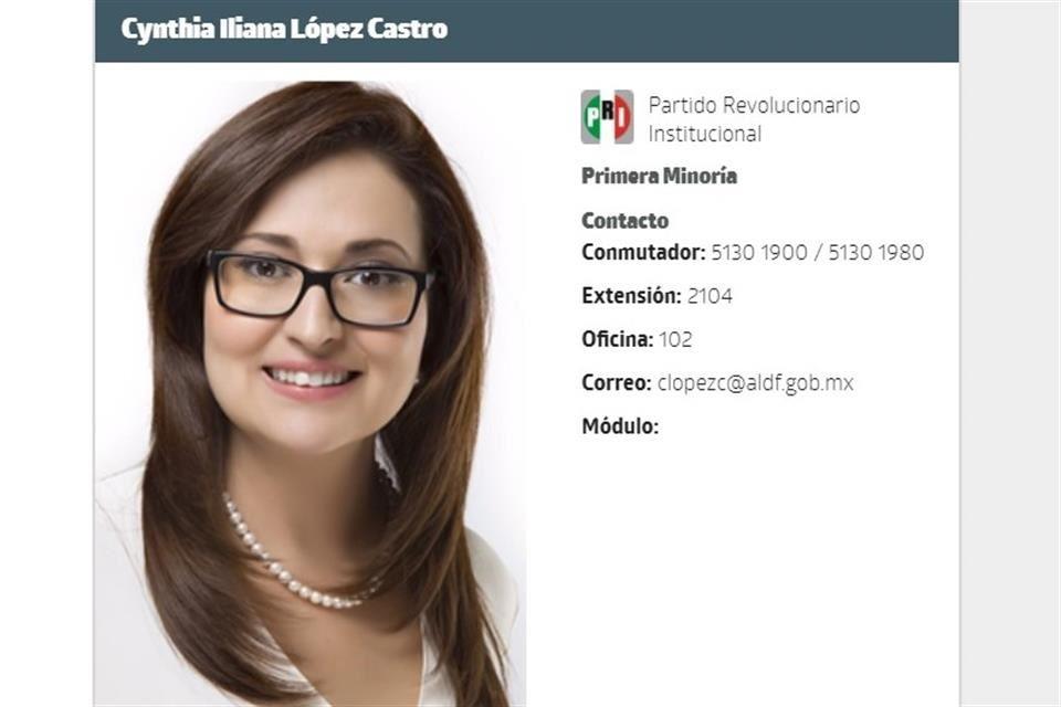 Para que fuera elegible, PRI altera información en ALDF de candidata plurinominal
