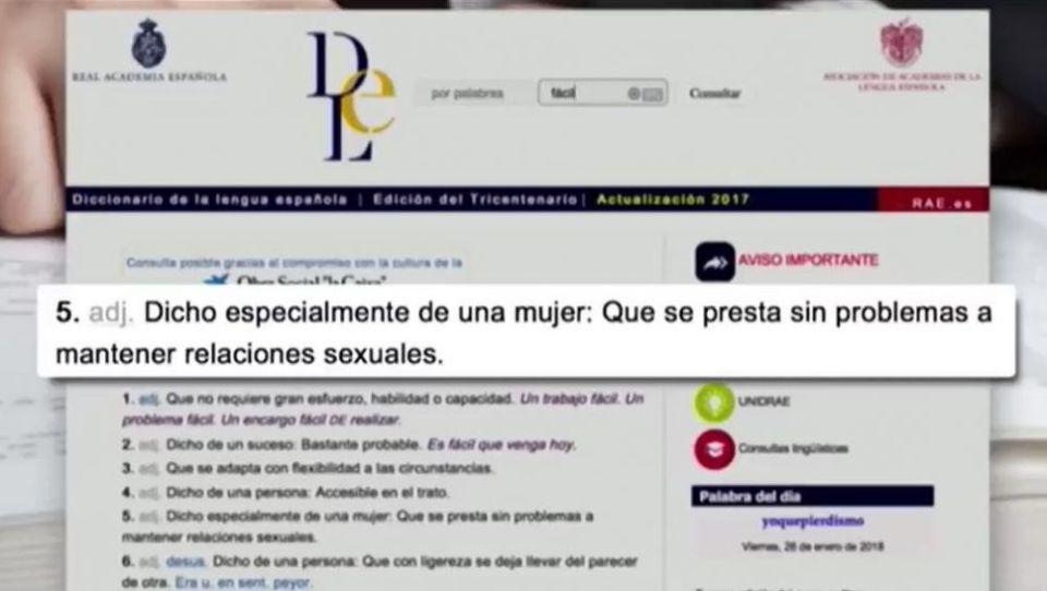 empresarios RAE definición lujo diccionario sexo débil mujer