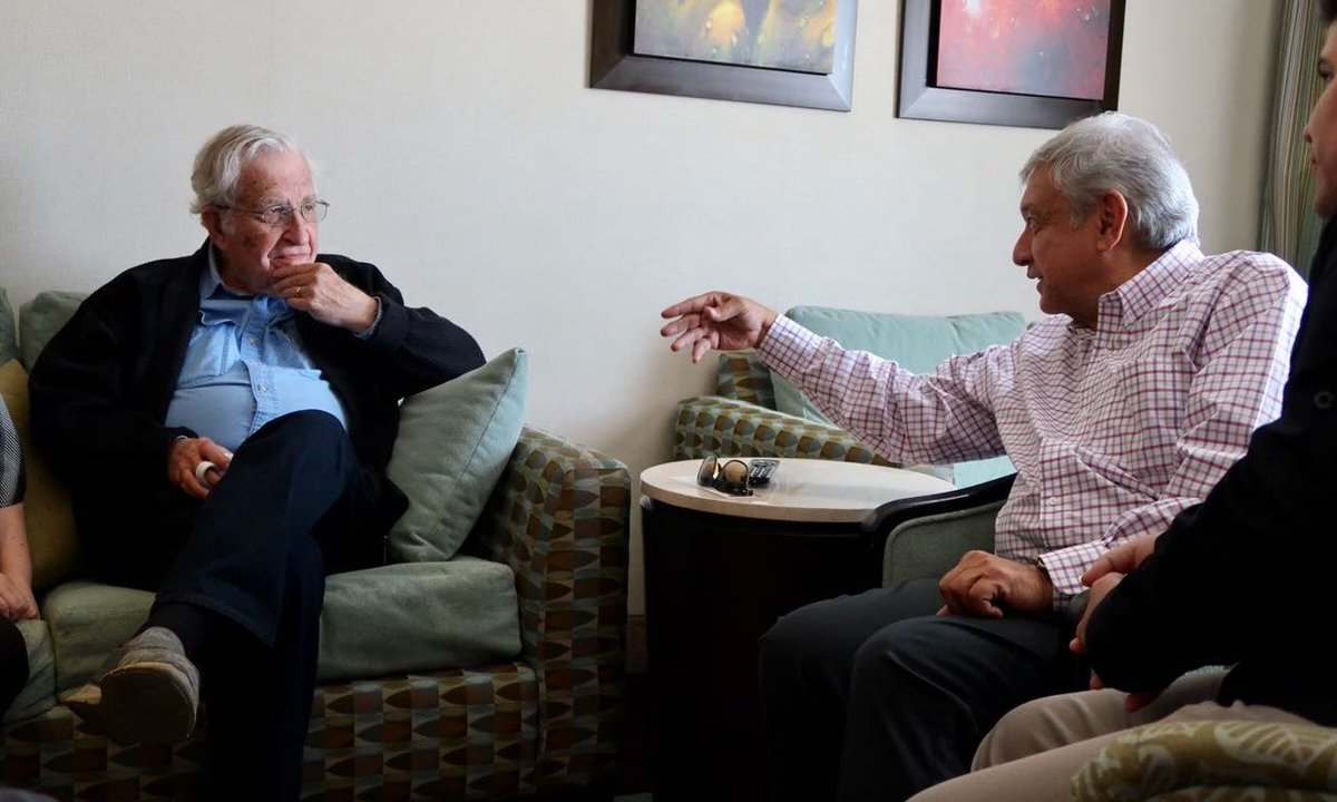 Noam Chomsky AMLO conversan hermosillo sonora Obrador