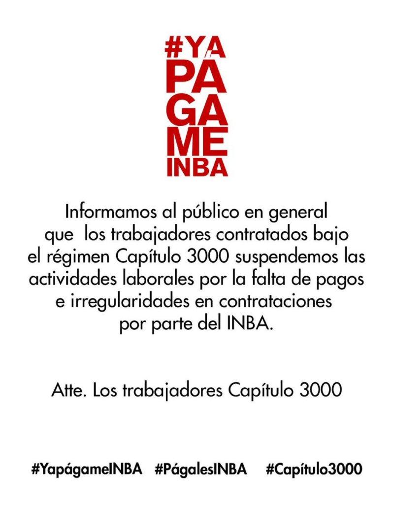 INBA Cultura Falta de Pago CM Munal