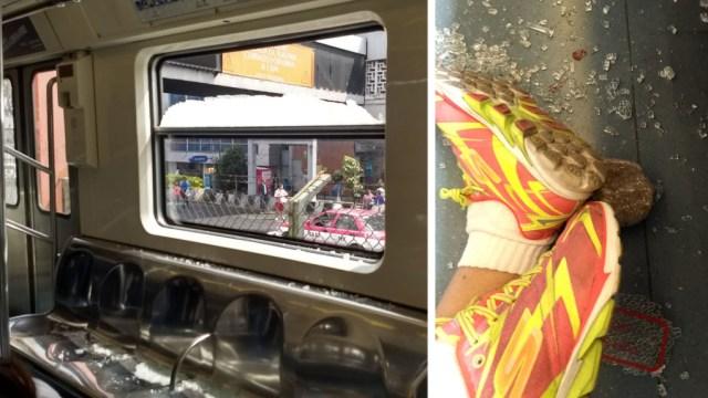 Pedrada rompe ventana y golpeó a anciana