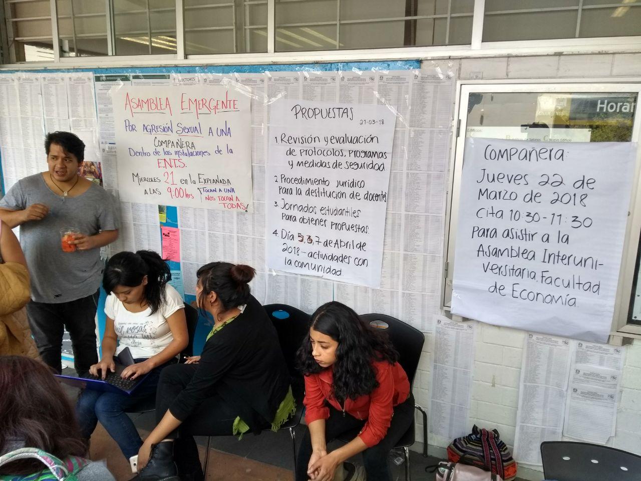 Alumnas de Escuela Nacional de Trabajo Social denunciaron abusos y agresiones