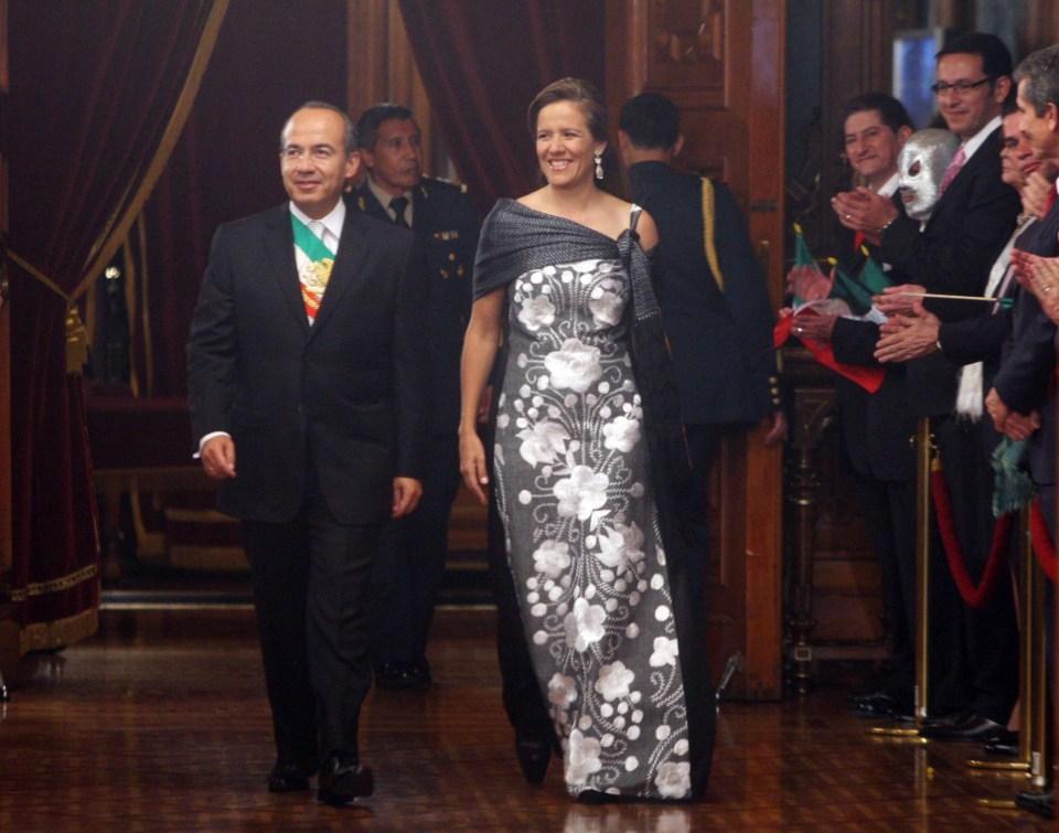 Zavala y Calderón en Grito de la Independencia en 2009