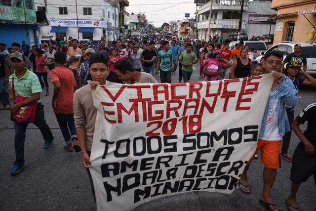 Cabeza de marcha de la Caravana Migrante
