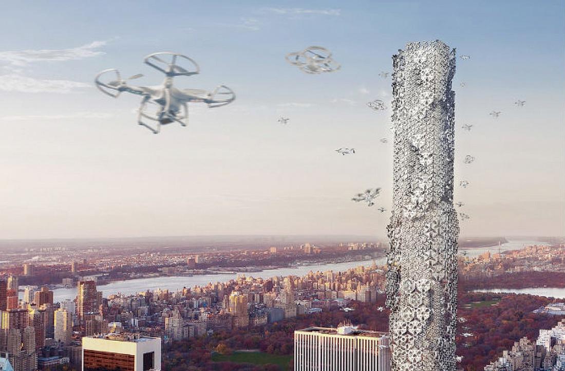 Robots comienzan construcción de rascacielos en Japón