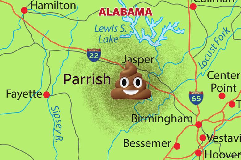 Tren lleno de excremento humano está atrapado en un pueblo de Alabama
