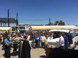 Entierro de Valeria Ahumada en panteón municipal de Mexicali