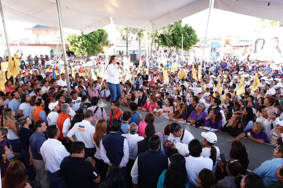 Evento de Martha Ericka Alonso en Puebla