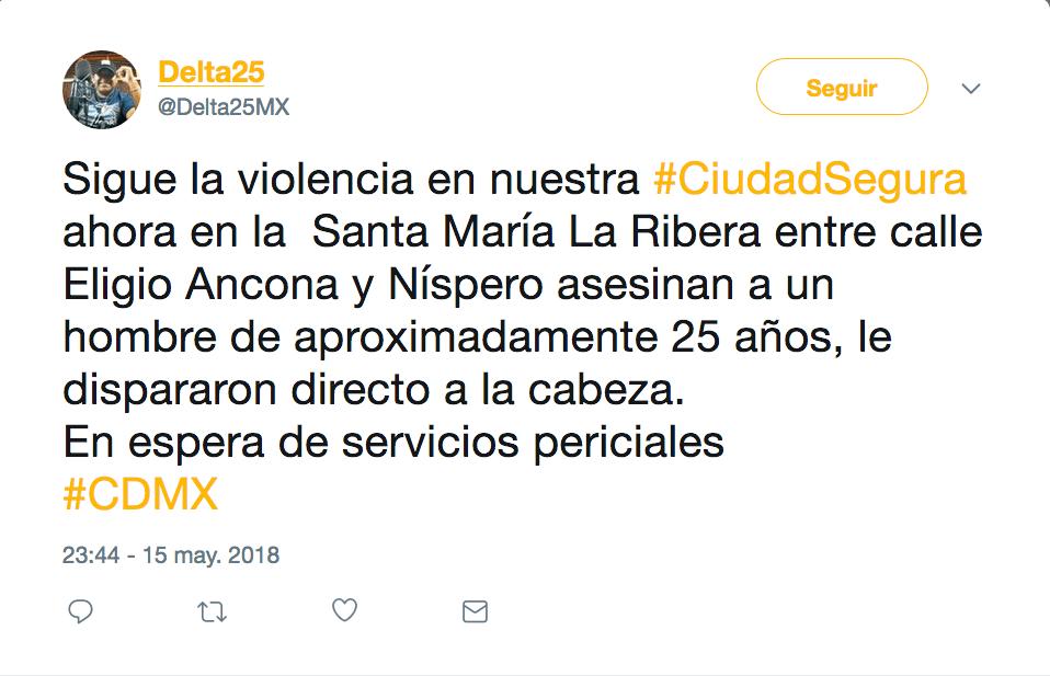 Ejecutan a hombre afuera de hotel en Santa María la Ribera