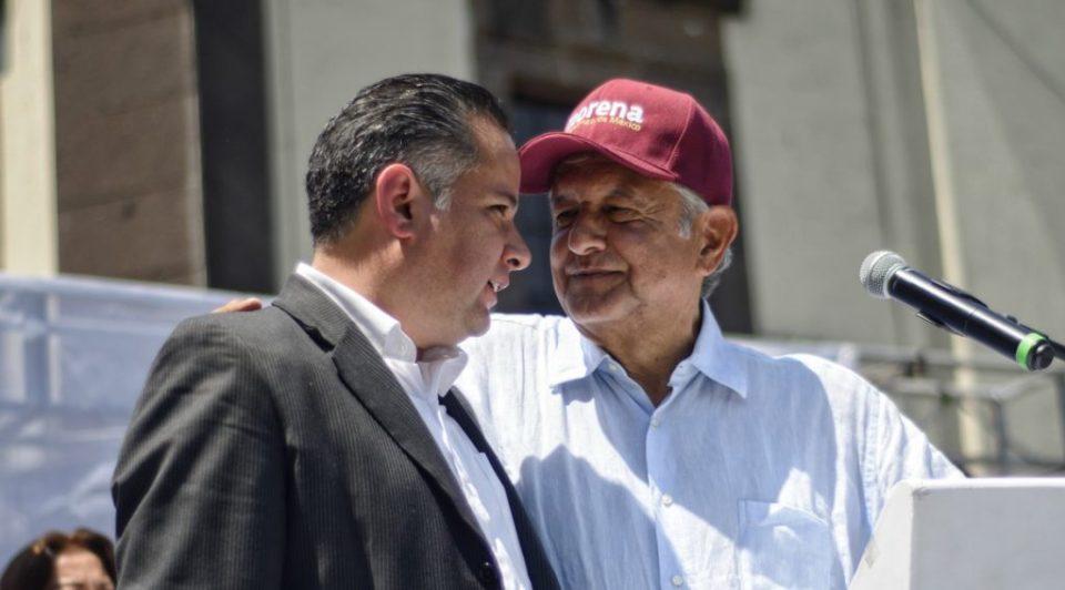 Snantiago NIeto y AMLO en Tlaquepaque destapando su apoyo