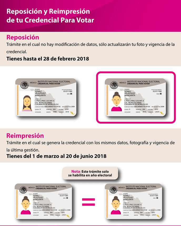 Infografía sobre reimpresión y reposición, Vía: INE
