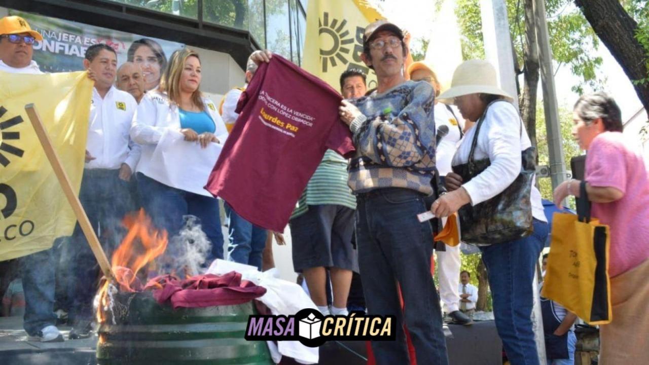 Líderes de Morena se unen a campaña de PRD en Iztacalco
