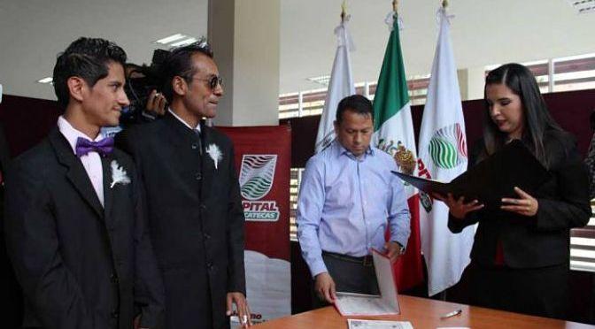 Primer matrimonio igualitario de Zacatecas le pedían 'pruebas' de ser gay