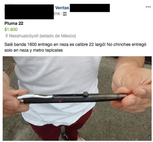 Plumas Pistolas: lo último en venta de armas