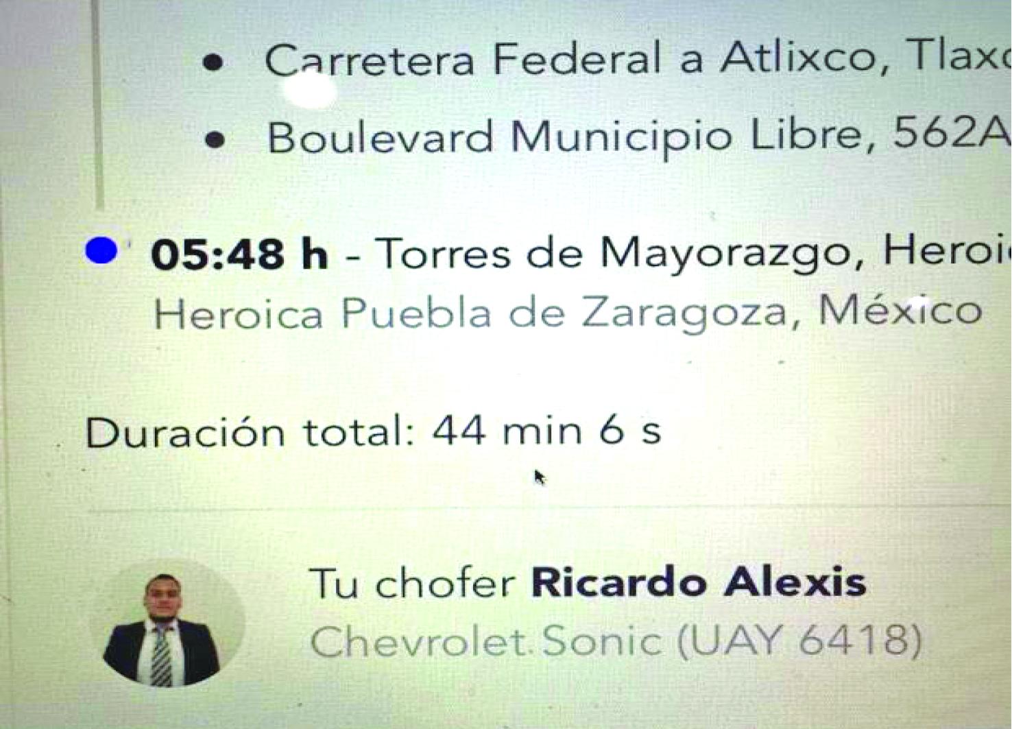 Ricardo Alexis Mara Castilla Cabify Feminicidio