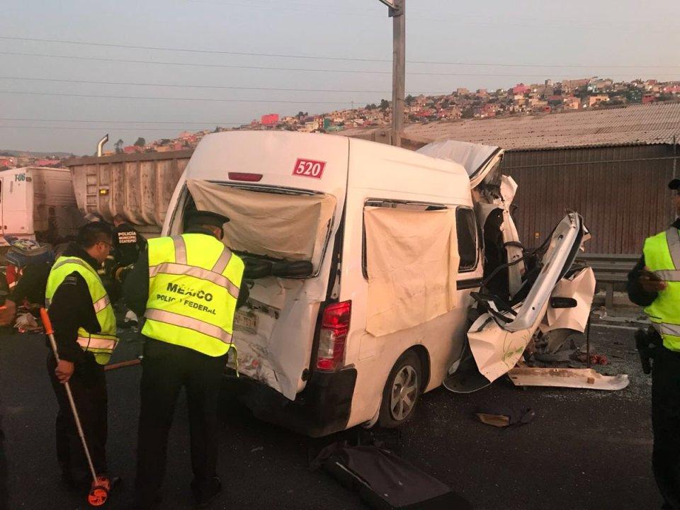 Accidente en autopista México Pachuca: 12 muertos y 5 heridos