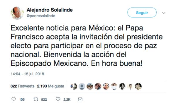 No, el Papa no va a participar en los foros para la paz