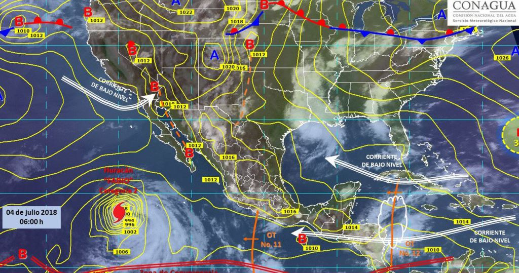 huracán y ondas tropicales traerán lluvia en casi todo el país