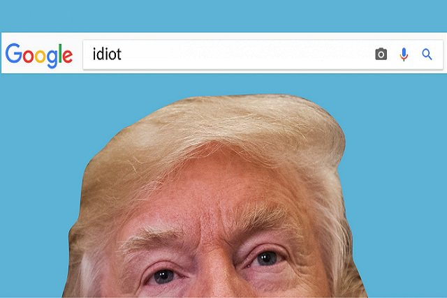 La foto de Trump aparece cuando buscas idiota en Google