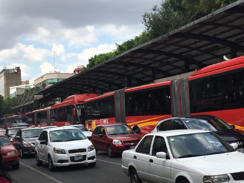 Metrobús Bloqueo Del Valle Línea 1 Sener