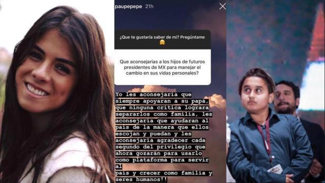¿Hija de Peña Nieto envió consejos para los hijos de AMLO?