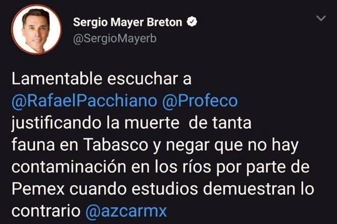 Sergio Mayer Manatíes Tabasco Contaminación Profepa Profeco