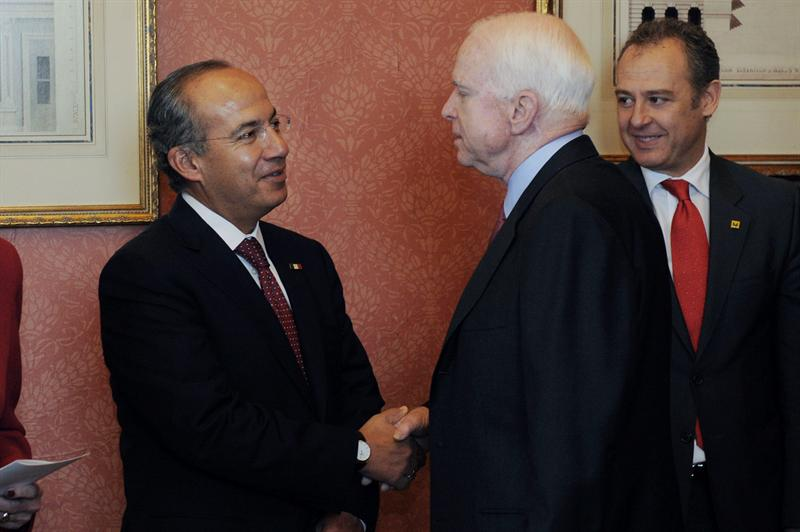 Calderón y McCain en Washington, 2011