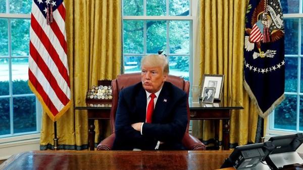 Trump hace puchero porque ya no quiere se presidente