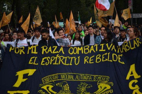 Contingente de la FES Acatlán en la Marcha del Silencio