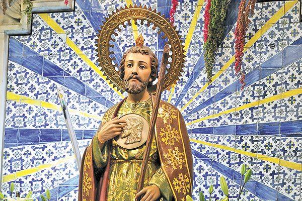 San Judas Tadeo en iglesia de San Hipólito