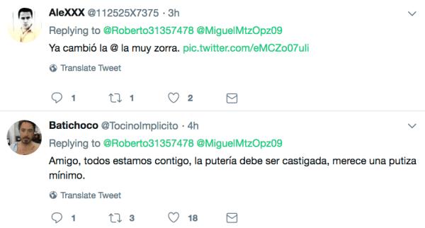 Batichoco, Twitter, Acoso, Violencia en línea