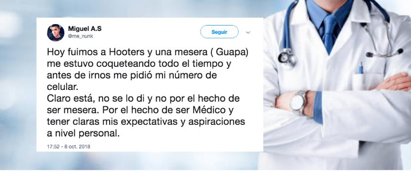 Médico rechazó a mesera de Hooters: 'tiene aspiraciones'