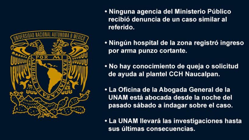 UNAM, CCH Naucalpan, Ataque, Vocera