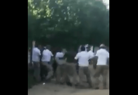 Agentes de INM golpean a migrantes en Chiapas