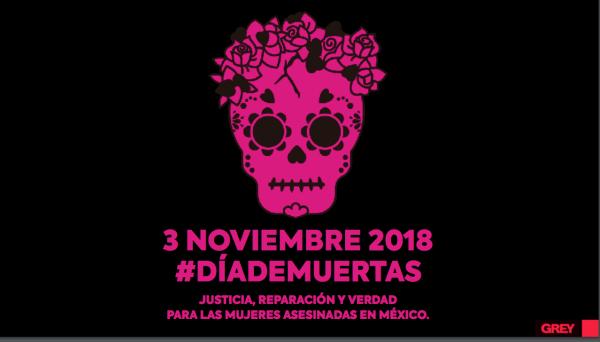 Día de Muertas, Grey, Agencia, Observatorio Ciudadano Nacional del Feminicidio